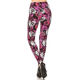 - 4144T3O5G5L - Leggings Depot Women's Ultra Soft Printed Fashion Leggings BAT26