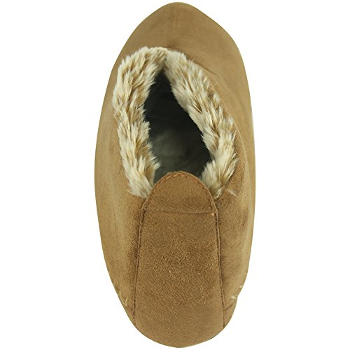 Indoor Cozy Chestnut Boots A House Womens Slipper Fleece Forfoot qFIv5wn