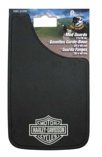 Harley-Davidson Silver Bar & Shield Logo Easy Fit Mud Guards Black P522
