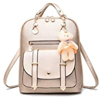 Premium 2018 New Women Leather Backpacks Students School bags for Girls Teenagers Travel Rucksack Black Color Small Shoulder Bag