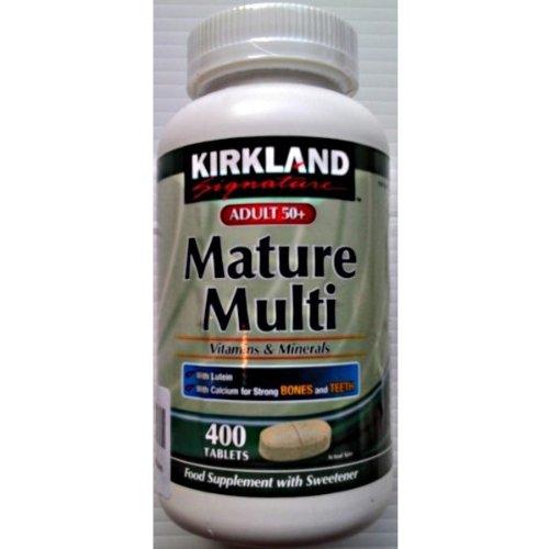 Киркланд взрослых 50+ Зрелые нескольких витаминов и минералов 1 х 400 таблеток