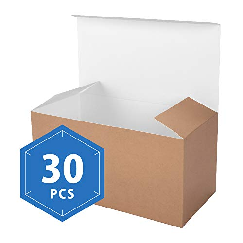 PACKHOME Kraft Gift Boxes with Lids 30 Pcs 9x4.5x4.5 Inches Paper Gift Box for Wedding,Gift,Party,Recycled Paper