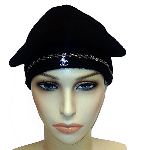 Chanel Cashmere Black Cap with Chain detail and CC (Chanel Cap)