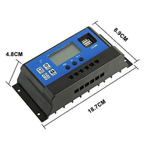 PowMr 60A Solar Charge Controller,Intelligent USB Port Display 12V/24V Auto Charge Regulator by PowMr (Image #5)