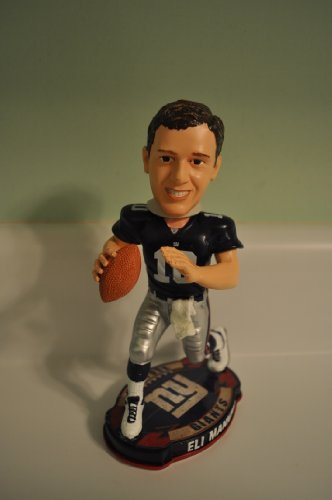 New York Giants Eli Manning Forever Collectibles Football Base Bobble Head by Forever Collectibles