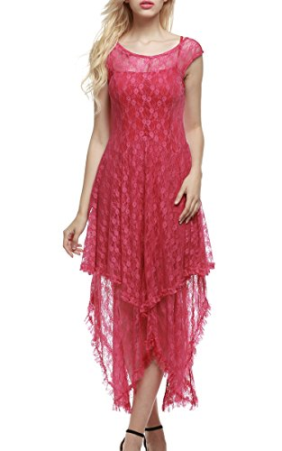 Red Tiered Dress - 9