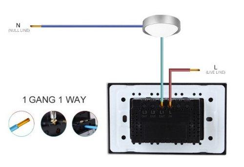 US/AU Standard, Remote Switch, Black Crystal Glass Panel, Wall Light Remote Dimmer Switch, VL-C301DR-82 by NIMTEK (Image #4)