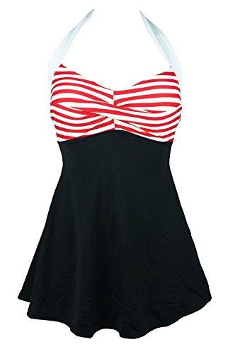 Cocoship Vintage Swimsuit Skirtini Swimdress