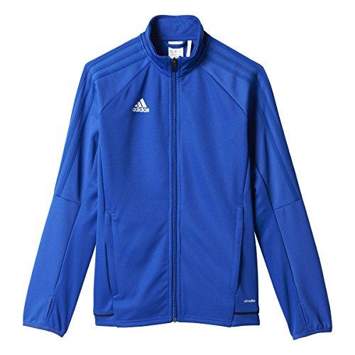 adidas Youth Tiro 17 Soccer Training Jacket XS Bold Blue-Black-White ()
