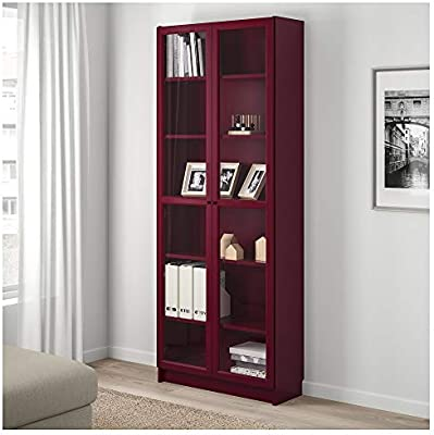 factory price 43887 45c33 Amazon.com: IKEA.. 803.856.16 Billy Bookcase with Glass ...