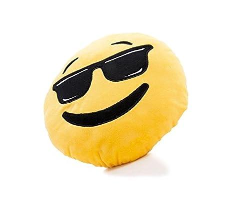 621042 Cojín de un emoticon con gafas de sol, de 30 cm de ...