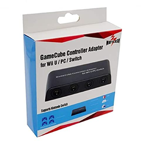 Mayflash GameCube Controller Adapter for Wii U and PC USB, 4 Port - 4144VRjYUiL - Mayflash GameCube Controller Adapter for Wii U and PC USB, 4 Port