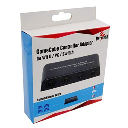 - Mayflash GameCube Controller Adapter for Wii U, PC USB and Switch, 4 Port
