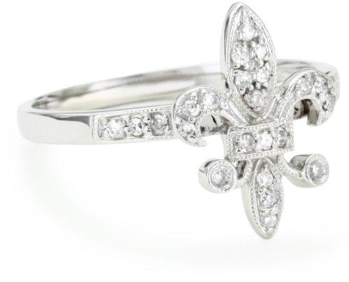 """KC Designs Trinkets"""" Diamond 14k White Gold Fleur-de-Lis ..."""
