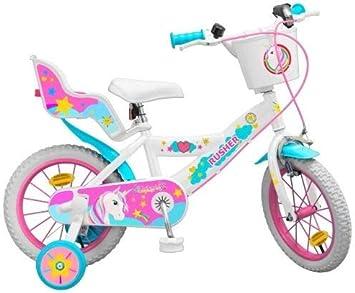 rusher - Bicicleta de 14 Pulgadas, diseño de Unicornio: Amazon.es ...