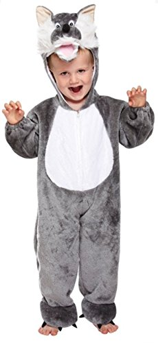 Cuddly Wolf Toddler Fancy Dress Costume Age 3 Years (Toddler Wolf Costume)