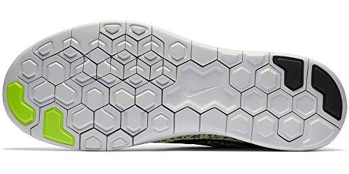 Nike Free RN Distance Laufschuhe Aktuelle Kollektion 2016 neon/schwarz/weiß, Schuhgröße:EUR 46, Farbe:neon