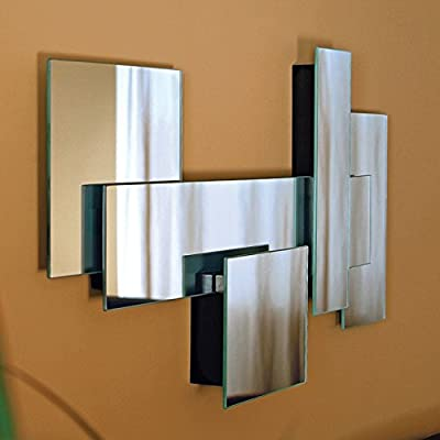 nexxt 30 by 15 by 2-Inch Miami Series Fully Assembled Multi Level Collage Mirror - Exclusive from the miami series from nexxt Multi level collage mirror Hangs vertically or horizontally and in groups for multiple display options - bathroom-mirrors, bathroom-accessories, bathroom - 4144W22MkgL. SS400  -