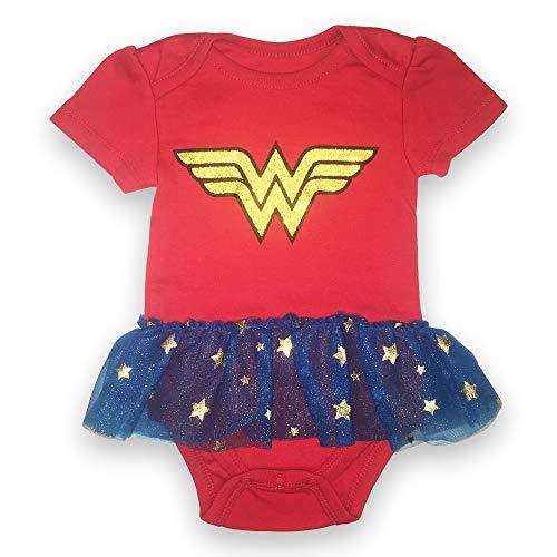 Wonder Women Short Sleeve Bodysuit - DC Comics Infant Girls Wonder Women Tutu Bodysuit (6M-9M) ()
