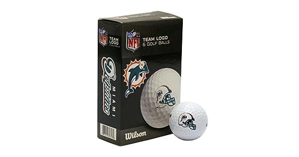 Amazon.com: NFL Miami Dolphins pelota de golf, 6 unidades ...