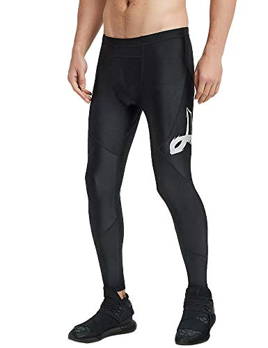 LAFROI Men's UPF 50+ Performance Fit Quick Dry Cool Compression Tights Pants Leggings with Drawstring (Reflective, ()