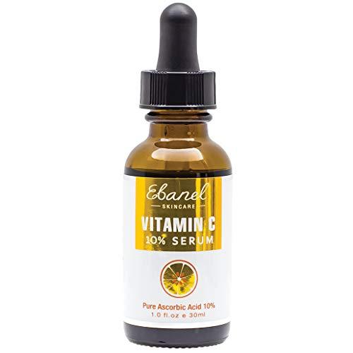Vitamin C Face Serum 10%, 100% Natural Pure Absorbed Acid to Treat Eye Bag, Dark Spot, Anti-Aging, Anti Wrinkles, Skin Brightening (1 Oz / 30ml)