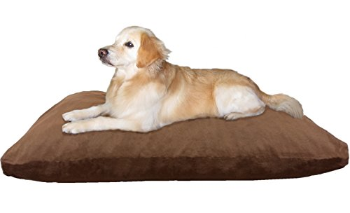 Extra Large Shredded Memory Foam Dog Bed Pillow with Orthope