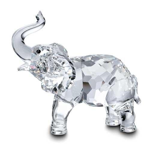 Swarovski Crystal Elephant - Swarovski Clear Crystal Figurine BABY ELEPHANT #191371