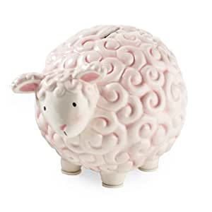 Mud Pie Bank, Pink Lamb (Discontinued by Manufacturer)