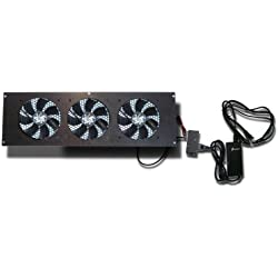 Coolerguys Cabcool1203 Three 120mm Fan Cooling Kit w/thermal control for Cabinet or Home Theaters