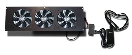 Coolerguys Cabcool1203 Three 120mm Fan Cooling Kit w/thermal control for Cabinet or Home Theaters CPU Fans at amazon