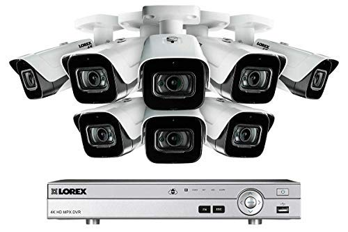 (Lorex MPX 4KMPX88 Ultra HD 8 Channel Security System with DV9082 and 8 4K LBV8721 Outdoor Audio Metal Bullet Cameras )