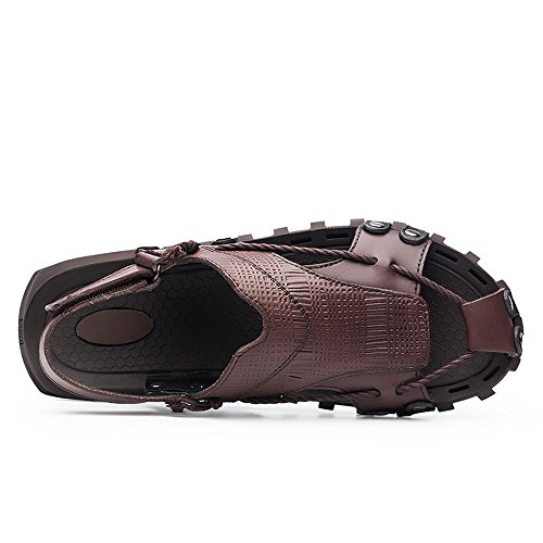 Scarpe morbidi uomo shoes Marrone vera da Sandali Nero vacchetta spiaggia piatti 45 uomo antiscivolo Colore Jiuyue dimensione in da pelle da di canapa Corda di Pantofole EU casual HqwxdvT