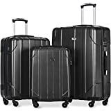 "Merax Luggage 3 Piece Sets Lightweight Spinner Suitcase 20"" 24"" 28"" - P.E.T"