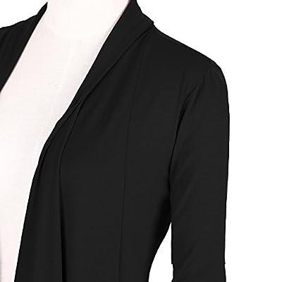 Urban CoCo Women's Drape Front Open Cardigan Long Sleeve Irregular Hem at Women's Clothing store