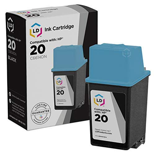 (LD Remanufactured Ink Cartridge Replacement for HP 20 C6614DN (Black))
