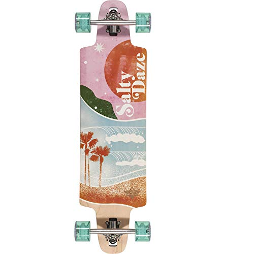Dusters California Skateboards Salty Daze Pink/Green Longboa