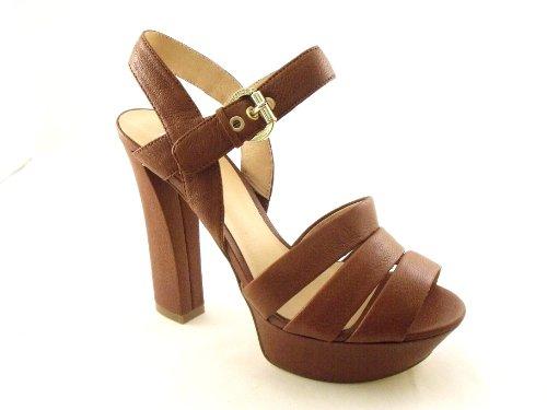 Guess - Sandalias de vestir de Piel para mujer Marrón marrón marrón