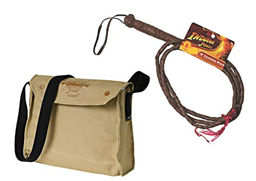 - Rubie's Indiana Jones Whip and Satchel Costume Accessories Brown