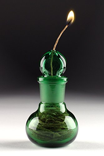 Glass on Glass Hemp Wick Dispenser with Fine Wick - Green +Bonus 20ft Wick! by Pyro Energy Research (Image #2)
