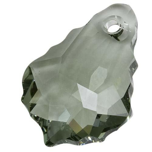 SWAROVSKI ELEMENTS Crystal Baroque Pendant #6090 16mm Black Diamond (2 Beads