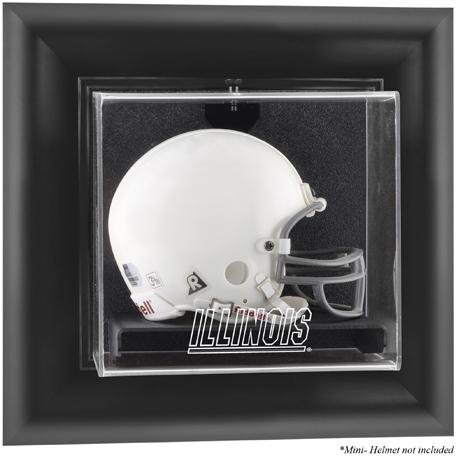 Illinois Fighting Illini Black Framed Wall Mountable Logo Football Mini Helmet Display -