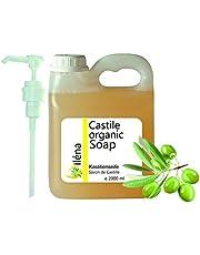Echte BIOLOGISCHE CASTILE ZEEP uitsluitend op basis van olijfolie, verwijdert mee-eters, gezichts-, hand-, lichaamsreinigingsgel, haar, keuken, kleding. heldere reinigingsvloeistof 2000 ml