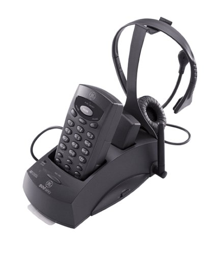 GE 29918 900 MHz Cordless Headset Phone (Black) - General Electric Phones