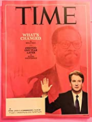 Time Magazine (October 1, 2018) What's Changed #metoo One Year Later Brett Kavanaugh Cover