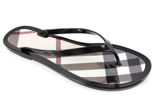 Burberry women s rubber flip flops sandals black UK size 4 3643724   Amazon.co.uk  Shoes   Bags bdc1bd3915d