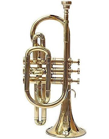 Trompeta de latón musical TB-0030, color dorado, un corneta
