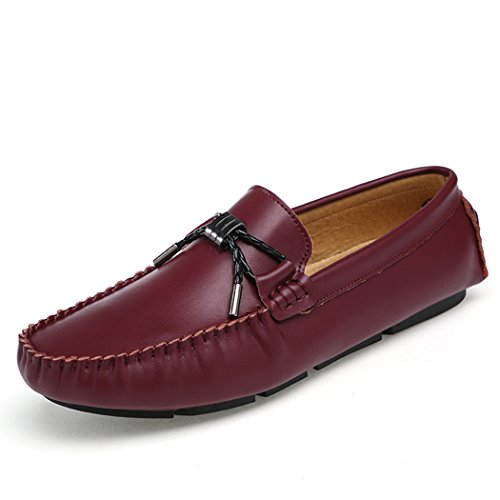 Men's Loafers Casual Slip Ons Driving Office Shoes Work School Shoes Office Soft Leather Flats QIANLING COLLECTION B06Y5H8QMF Shoes af28e6