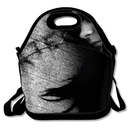 FONDTHEE Dark Emo Portable Lunchbox Handbag Men Women Adult Kids