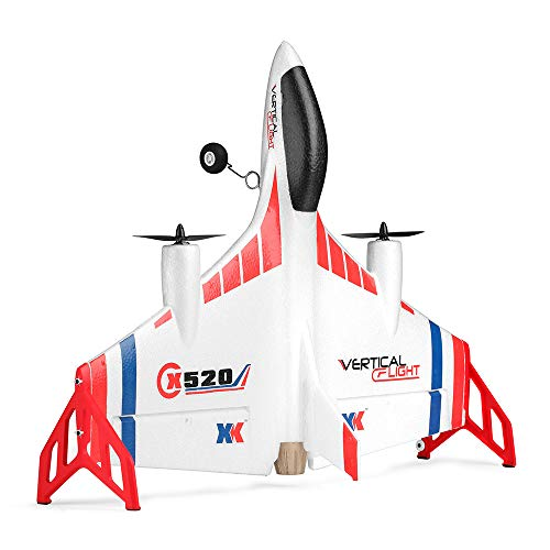 Hisoul XK X520 Glider 2.4G 6CH Switchable 3D/6G Mode Vertical Takeoff Land Delta Wing RC Airplane for Stabilized Flight Easy for Beginner - Shipped from USA (White) by Hisoul (Image #8)